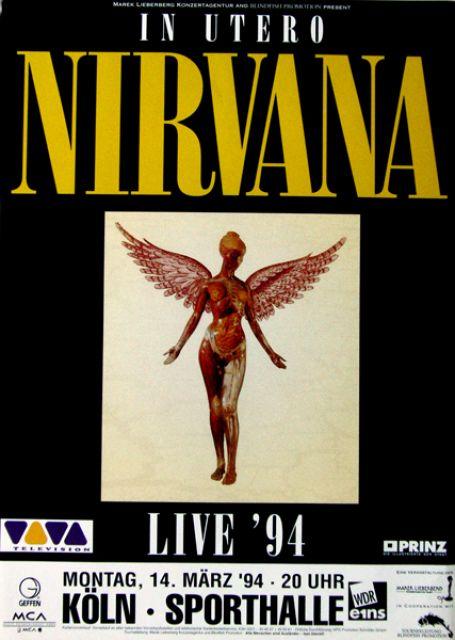 Nirvana, Köln 1994 (Poster)